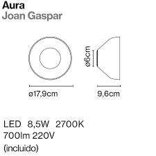Seinavalgusti Aura,  8,5W/700lm 2700K LED