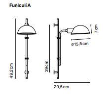 Seinavalgusti Funiculi, E14 sokliga