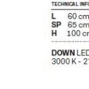 Rippvalgusti Cupole, 18W/2700lm 3000K