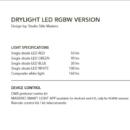 Niiskuskindel lühter Drylight, RGB LED, IP65