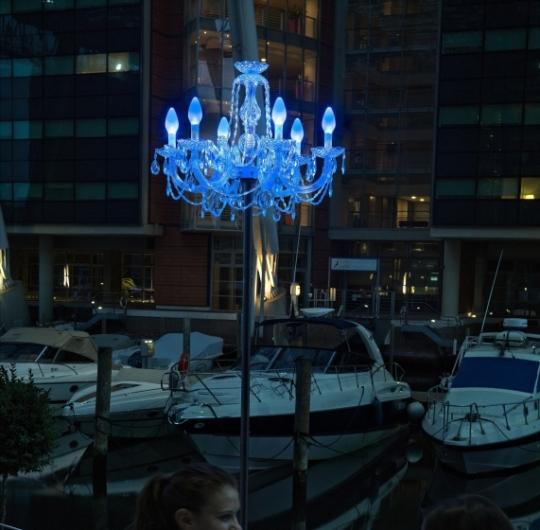 Niiskuskindel rippvalgusti Masiero Drylight S6 LED blue