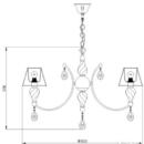 Rippvalgusti Murano, 6xE14 soklitega