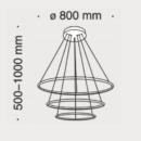 Maytoni rippvalgusti Nola, 110W/5500lm led, 3000K