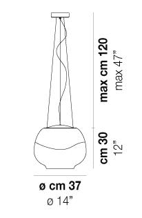 Rippvalgusti Mirage, 17,5W Led