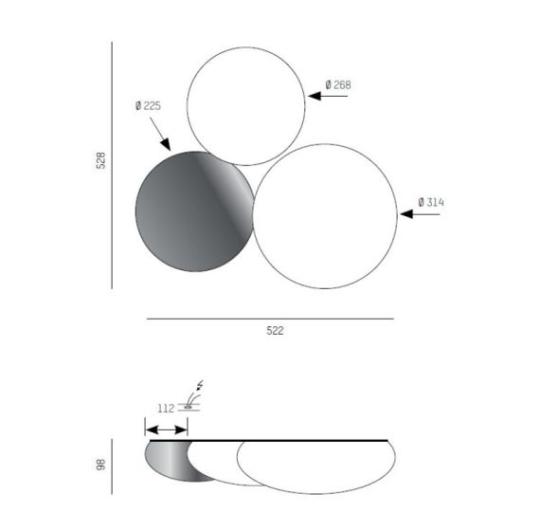 Lae/seinavalgusti Foam, 33W LED