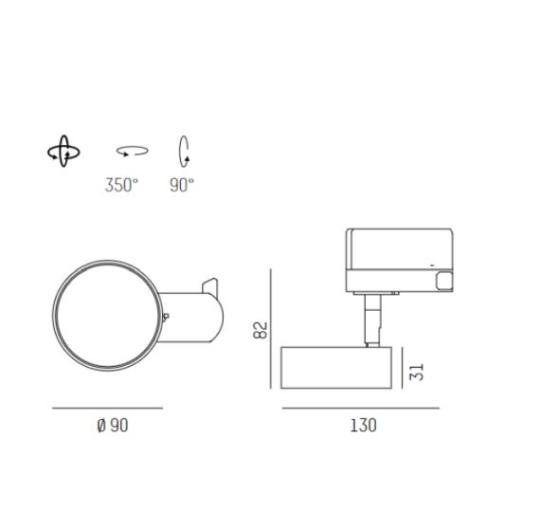 3-faasilise siini valgusti Litin AC, 10W/600lm LED