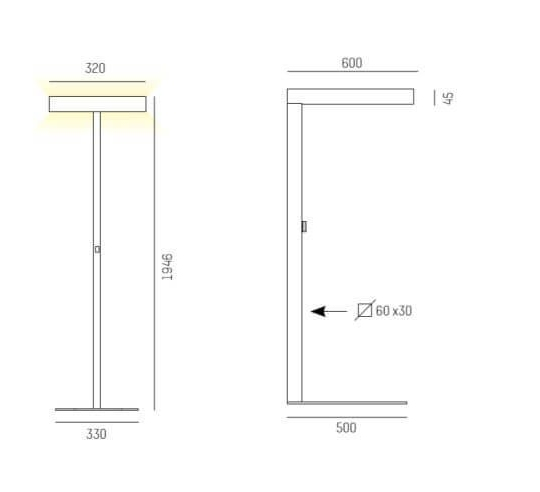 Põrandavalgusti System 01, 4x55W 2G11