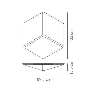 Tekstiilist lae/seinavalgusti Necky, 3xE27 sokliga