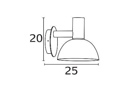 Välisvalgusti Arki, 20W E27, IP44