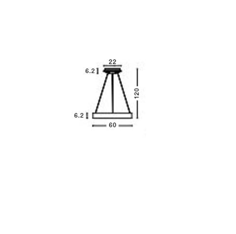 Rippvalgusti Rando Thin, 50W/3250lm led, 3000K