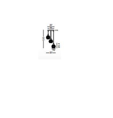 Rippvalgusti Odell, 3XE14 soklitega
