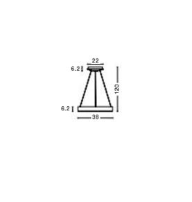 Rippvalgusti Rando Thin, 30W/1950lm led, 3000K