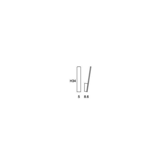 Niiskuskindel seinavalgusti Stick, 6W/650lm, 3000K, IP54