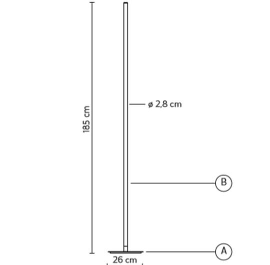 Põrandavalgusti Accipicchio, 60W/8000lm, 3000K
