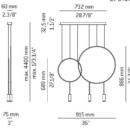 Rippvalgusti Revolta, 3x6,1W/3x665lm led 2700K