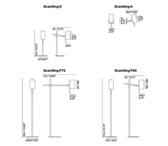 Põrandavalgusti Scantling P73