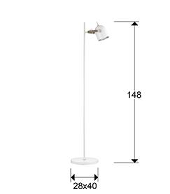 Põrandavalgusti Adame, E14 sokliga