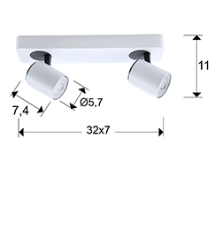 Spot-valgusti Turn, GU10 soklitega
