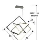 Rippvalgusti Quadros, 57W/4900lm LED