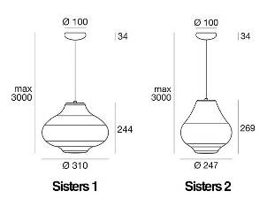 Rippvalgusti Sisters, E27 sokliga
