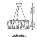 Rippvalgusti Accordeon, 51W/5700lm 2700K