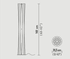 Põrandavalgusti Bach, E27 soklitega