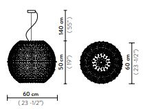 Rippvalgusti Charlotte Globe, 4xE27 soklitega