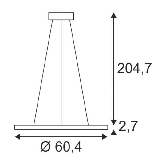Rippvalgusti Led-Panel Round,  39,8W LED