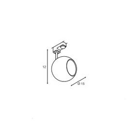 3-Faasilise siini valgusti Light Eye 150, GU10 sokliga