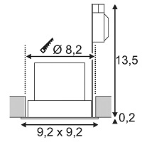 Süvisvalgusti Contone, 16W/890lm led