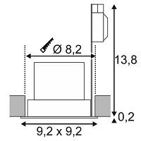 Niiskuskindel süvisvalgusti Contone, 16W/890lm led, IP44
