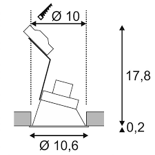 Süvisvalgusti Horn-A, 50W Gu10, IP21
