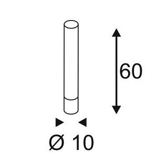 Niiskuskindel põranda/postvalgusti Light Tube, 11W/630lm Led