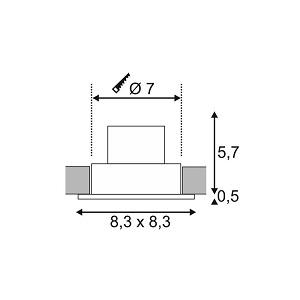 Niiskuskindel süvisvalgusti Patta-F Square, 9W led, IP65