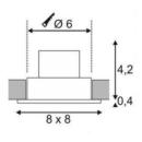 Niiskuskindel süvisvalgusti Patta-I Square, 9W led, IP65