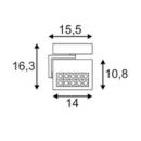 Suundvalgusti Profuno, 16W/960lm 3000K Led