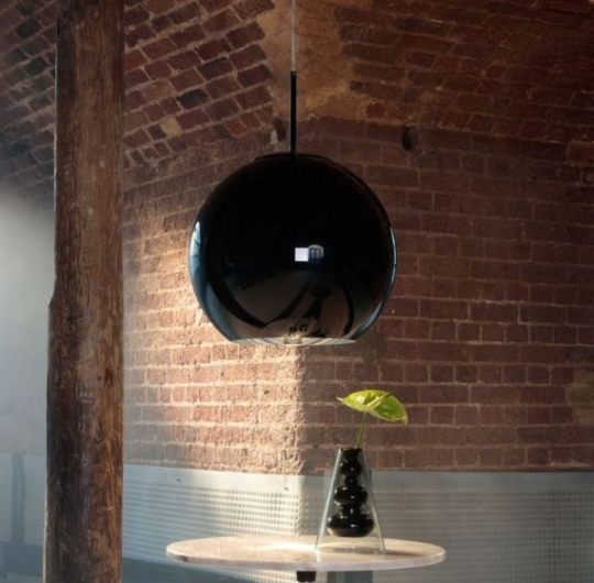 Laevalgusti Tom Dixon Copper round black