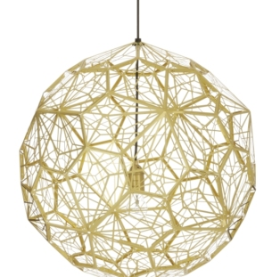 Rippvalgusti Tom Dixon ETCH WEB ETW01BEU BRASS_OFF