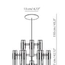Lühter Excalibur, 12x12W LED, 2700K