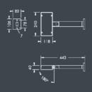Led-prožektor Expolux, 18W/1460lm, 3000K, IP65