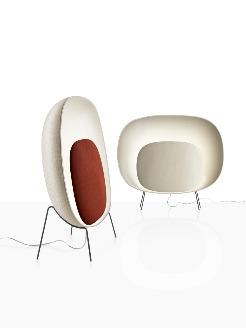 Foscarini Stewie ivory and red