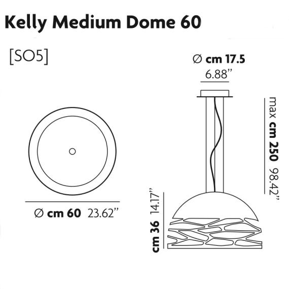 Studio Italia Design kelly-medium-dome-141013 data sheet