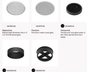 Flos UT spot 57 86 downlight trim accesories