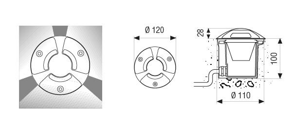 a949d29b24b Niiskuskindel süvisvalgusti Trek Mini, 4,5W/420lm led, IP67