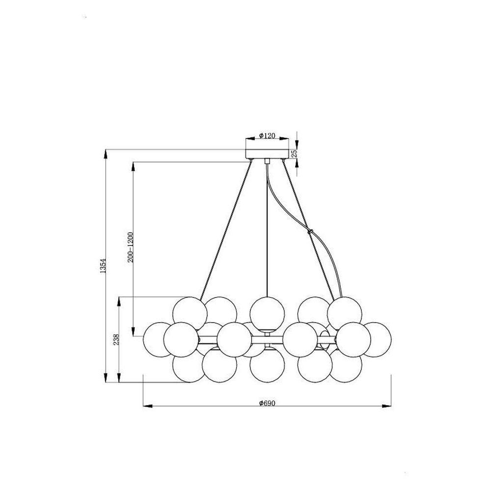 Rippvalgusti Maytoni MOD548PL-25G joonis