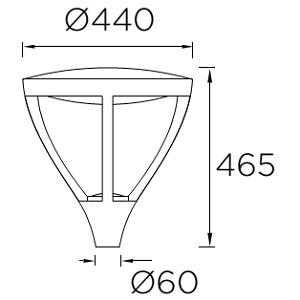 Postvalgusti Leds Proud 60-9913-z5-cm